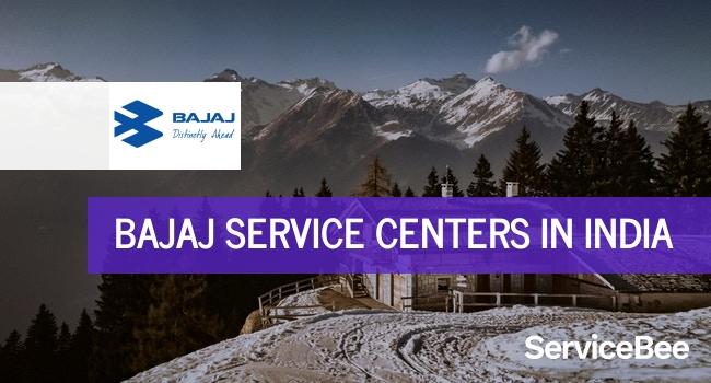 Bajaj service centers in India.