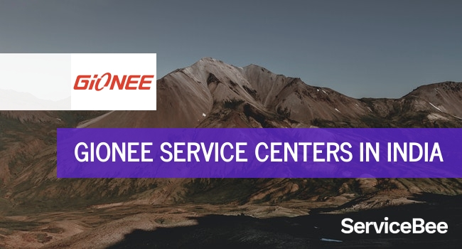 Gionee service centers in India.
