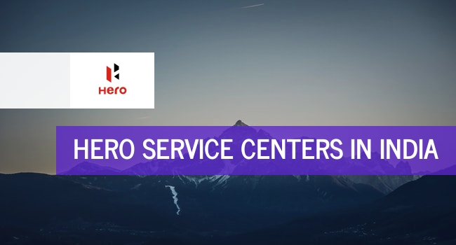 Hero service centers in India.