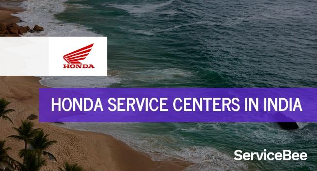 Honda service centers in India.