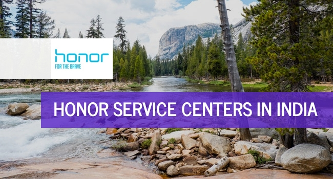 Honor service centers in India.