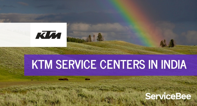 Ktm service centers in India.