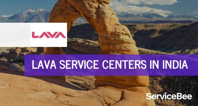 Lava service centers in India.