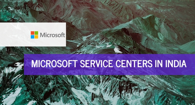 Microsoft service centers in India.