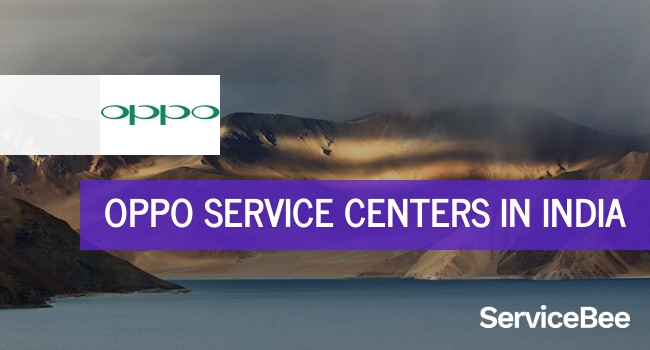 Oppo service centers in India.