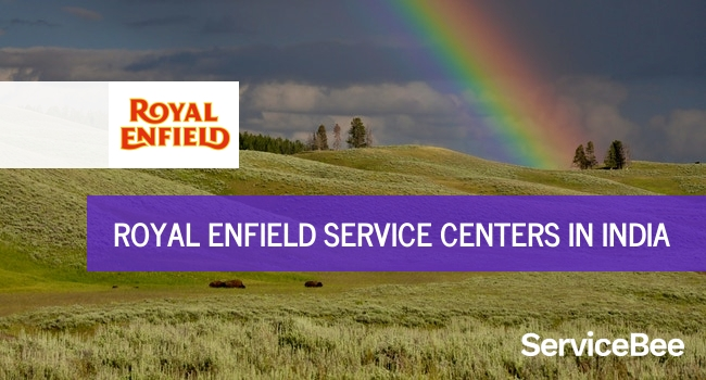 Royal enfield service centers in India.