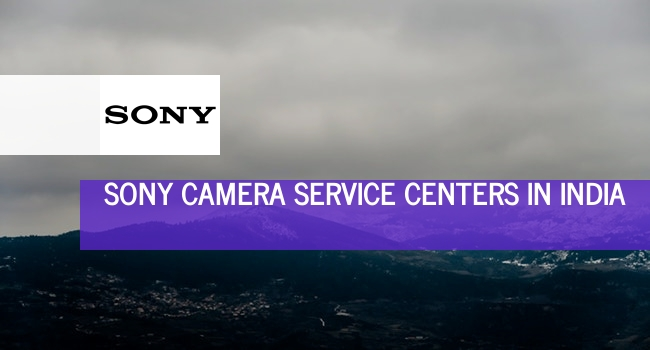 Sony camera service centers in India.