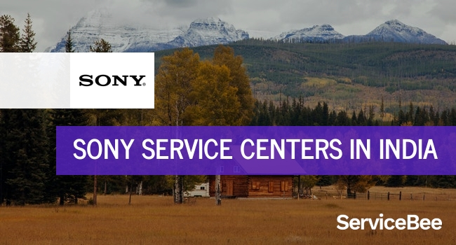 Sony service centers in India.