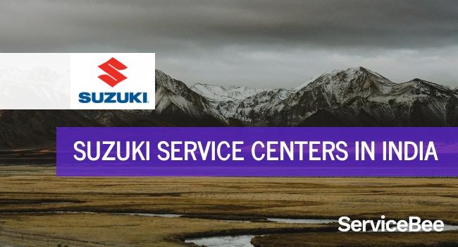 Suzuki service centers in India.