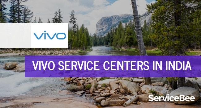 Vivo service centers in India.